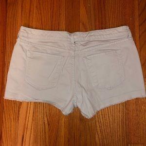Light blue cutoff shorts